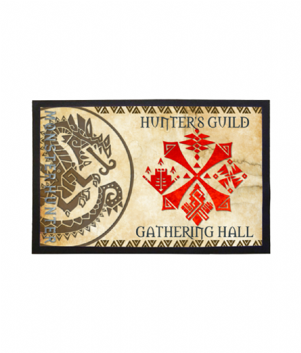 Monster Hunter Hunters Guild Gathering Hall Doormat Welcome Mat
